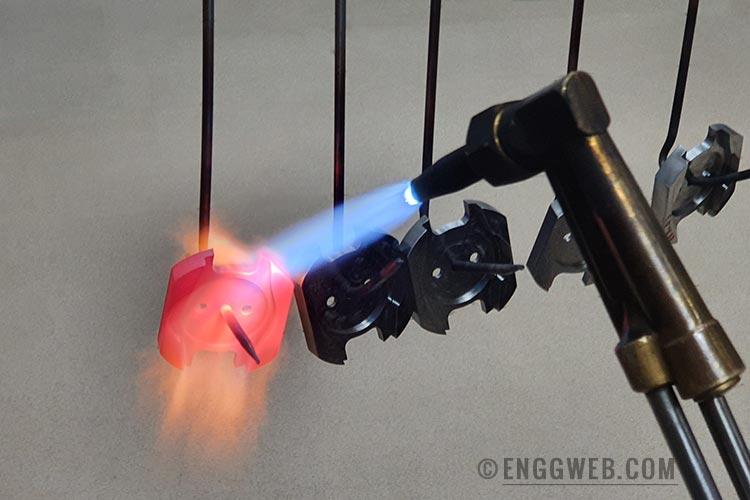 Heat treating: Flame hardening