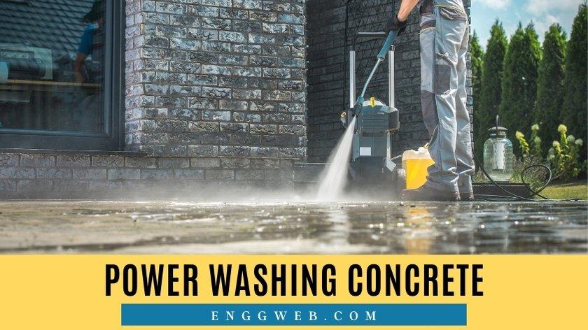 Power Washing Concrete